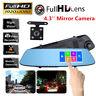 4.3'' Touch Screen Car Camera HD Mirror DVR Vehicle Camcorder Dash Cam G-Sensor