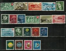 Switzerland #B154-173 Complete Set 1946-48 Used