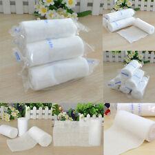 2 Rolls Medical Treatment Elastic Bandage Gauze Tape Athletic Care Tape Tool Set