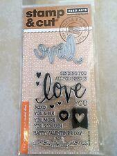 Hero Arts Stamp and Cut Love Stamp with Matching Die Cut Set DC175 NEW