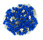 "100 Pack 16-14 Gauge Blue Male Quick Disconnect Terminals .250"" - SHIPS FREE!"