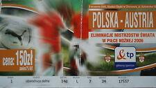 TICKET 3.9.2005 Polska Polen - Austria Österreich