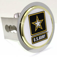 """US Army Logo Chrome Tow 2"""" Receiver Hitch Cover Real Stainless Steel Plug"""