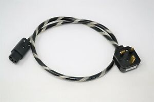Abbey Road Mains Power Line by Moving Air (1 metre). U.K. plug IEC mains cable