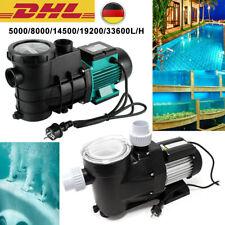 5000-33600L/H Schwimmbadpumpe Umwälzpumpe Fliterpump Poolpumpe SwimmingpoolPumpe