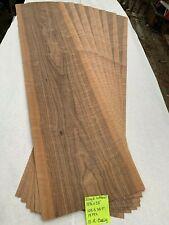 Curly Black Walnut Wood Veneer #10R - 19pc, each 13.5�x58� Total 103.3 sq ft