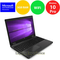 "HP ProBook 6565B LAPTOP DUAL CORE 2.1GHz Windows 10 PRO Win DVDRW 15.6"" HD WiFi"