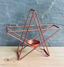 Geometric Copper Rose Gold Metal Star Tea Light Candle Holder Lantern wedding