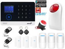 B24 WiFi Cloud APP GSM SMS RFID Wireless Home Security Alarm System+Strobe Light