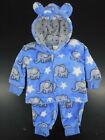 Infant Boys Sweet  Soft 25 2PC. Fleece Hooded Set Sizes 3/6Mt 6/9Mt  9/12Mt
