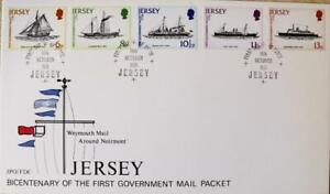 """Jersey Stamps """"Royal Mail Packet Ships - Bi-Centenary"""" First Day Cover 1978"""