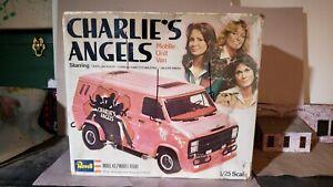 Revell Charlie's Angels mobile unit custom Chevy Van UN BUILT unbuilt kit 1977