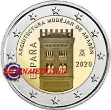 2 Euro Commémorative Espagne 2020 - Architecture Aragon UNC NEUVE