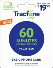 TracFone Smartphone Plan $19.99 Prepaid PIN 90 Days 60Min/Text/Data