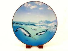 """1991 Collector Plate """"Unicorn of the Sea"""", Save The Whales, A. Casay, #Plt20"""