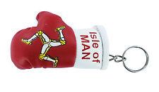 PORTACHIAVI pelle porta chiavi auto Guantoni da boxe bandiera Isola di Man