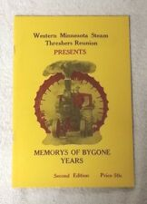 WMSTR 1958 Book WESTERN MINNESOTA STEAM THRESHERS REUNION Memories Bygone Years