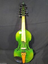"""Baroque style SONG Brand master Green 6×5 string 14"""" Viola d'Amore #9429"""