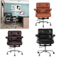 Genuine Leather EXECUTIVE CHAIR Office Chair Swivel Adjustable