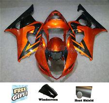 Fit For Suzuki 2003 2004 GSXR 1000 Plastics Injection Fairing Orange Black c06