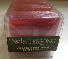 WINTERSONG Christmas Floating Candles Set Red Holly Berry New in Box Vintage