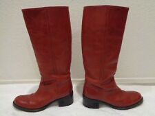 GUCCI Red Apache Riding Boots 115386 SZ 36.5 b/ 6.5