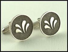 VINTAGE Unisex .925 Sterling Silver, Decorative Textured Cufflinks
