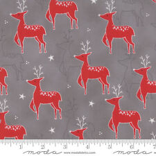 JOL Reindeer on Gray #00-15 Christmas Moda Quilting Fabric by the 1/2 yard