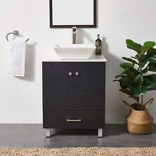 """24"""" Bathroom Vanity Freestanding W/ Ceramic Vessel Sink Cabinet Combo"""