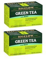 Bigelow Green Tea with Mint - 2 Boxes - 40 Tea Bags