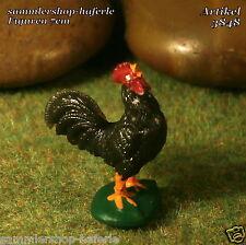 Original Hausser Elastolin Haustier schwarzer Hahn aus der 7cm Serie Art.3848
