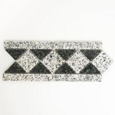 Mosaik Bordüre Borde Padang Naturstein grau schwarz 8x20 cm Artikel 860/BT
