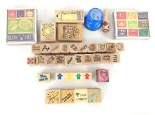 Elementary Teacher Supplies Rubber Stamps Lot of 49