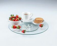 LANSH Tempered Glass 14 Inch Lazy Susan and Rotating Tray for Cabinet org.