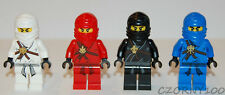 LEGO NINJAGO KAI / COLE / ZANE / JAY MINIFIGURES LOT OF 4 NEW