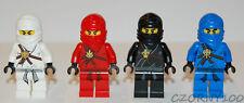 LEGO NINJAGO KAI / COLE / ZANE / JAY MINIFIGURES LOT OF 4 NEW