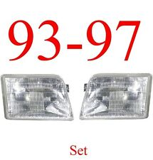 93 97 Ford Ranger 2Pc Head Light Set, 2WD, 4WD, Complete, FO2502119, FO2503115