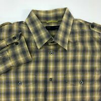 Banana Republic Button Up Shirt Mens XL Multicolor Plaid Slim Fit Long Sleeve