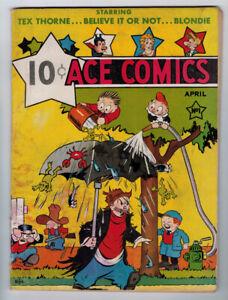 ACE COMICS #1 3.0 NO RESERVE AUCTION 1ST BLONDIE JUNGLE JIM 1937 OFF-WHITE PAGES