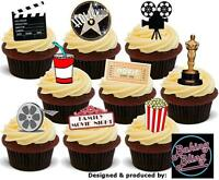 36 Novelty Hollywood Family Movie Night Mix STAND UP Edible Cupcake Cake Toppers