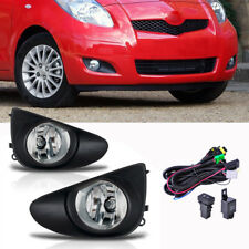 Pair Front Clear Fog Lights Wiring Harnes For Toyota Yaris Sedan 4D 2007-2012