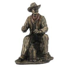 "9.25"" Cowboy Coffee Break Statue Western Figurine Country Figure"