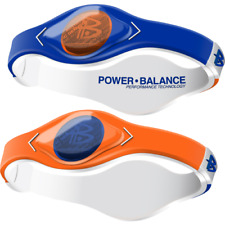 Authentic Power Balance Silicone Wristband - Home & Away Orange/Blue - Small
