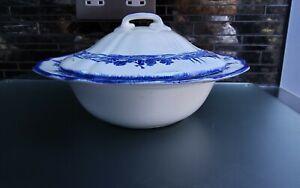 Royal Doulton Norfolk Lidded Blue And White Vegetable Tureen