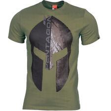 Pentagon Ageron T-Shirt Eternity Logo Tactical Gym Workout Top Mens Vest Olive