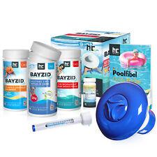 Pool Starterset 7 tlg Wasserpflege durch Chlor, PH Minus und Multitabs