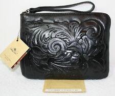 New ListingNwt $79 Patricia Nash Cassini Tooled Italian Leather Wristlet Wallet Bag Black