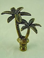 GORGEOUS  ANTIQUE  BRASS  PALM TREE  LIGHTING LAMP  SHADE  FINIAL      (NEW)