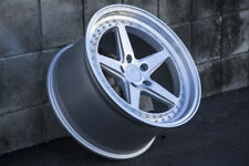 Aodhan DS05 19x9.5 +15 19x11 +22 5x114.3 Silver Machined Staggered (Set of 4)