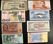 Lot Of 30 Different Bank Paper Money Notes From Around The World Zambia Japan